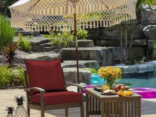 Arden Selections Ruby leala Texture Outdoor Deep Seat Set   46 5 in l x 25 in W x 6 5 in H   Retail  47 99