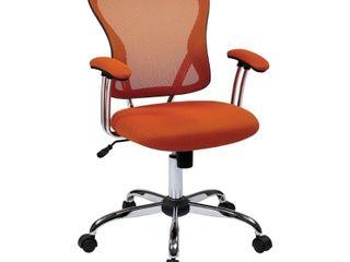 Porch   Den Globeville Chrome Mesh Vinyl Adjustable Tilt Tension Office Chair   Retail  155 99