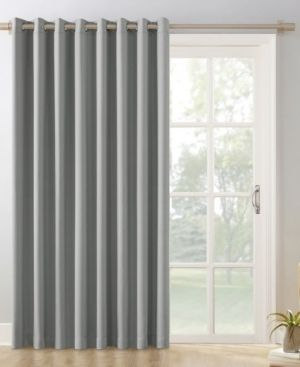 Sun Zero Hayden Patio Extra Wide Blackout Grommet Sliding Patio Door Curtain Panel Silver Gray   100  x 84  Retail    52 39