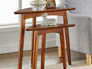 Carbon loft Ciaravino Rustic Wood Nesting End Tables  Set of 2  Retail 307 99