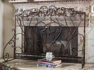 Christopher Knight Home Claridge Iron Fireplace Screen   Retail 152 99