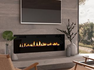 60  Ultra Thin Electric Fireplace Insert   Retail   579 99