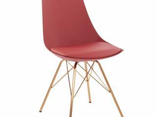 Carson Carrington Huskvarna Faux leather Mid century Bucket Chair with Gold Chrome Base   Retail   104 99