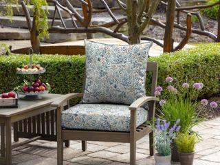 Arden Selections Pistachio Botanical Outdoor 24 in  Conversation Set Cushion   24  l  x 24  W  x 5 75  H    Retail   62 99