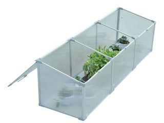 Outsunny 71  Aluminum Vented Cold Frame Greenhouse   Retail   74 99