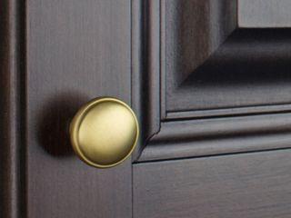 GlideRite 1 125 in  Round Ring Classic Cabinet Knobs Satin Gold  Pack of 10 Retail   27 99