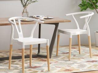 Mountfair Modern Wood leg Dining Chairs set of 2   Retail   136 99