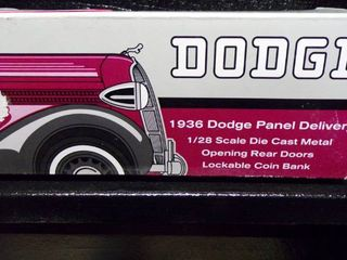 1936 DODGE PANEl DElIVERY TRUCK BANK