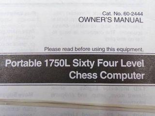RADIO SHACK CHESS COMPUTER   WORKS