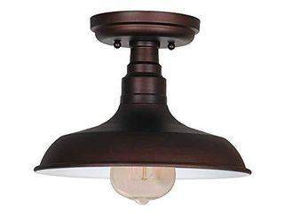 Design House 519884 Kimball 1 Semi Flush Mount Ceiling light  Coffee Bronze