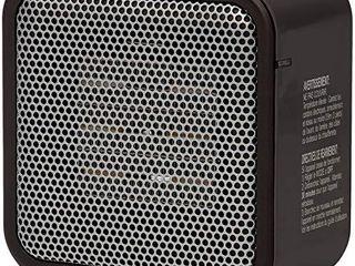 Amazon Basics 500 Watt Ceramic Small Space Personal Mini Heater   Black