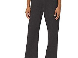 Hanes Women s Petite length Middle Rise Sweatpants   Medium   Ebony