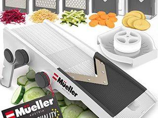 Mueller Austria Multi Blade Adjustable Mandoline Cheese Vegetable Slicer  Cutter  Shredder with Precise Maximum Adjustability