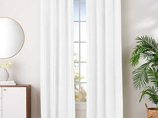Amazon Basics Room Darkening Blackout Window Curtains with Grommets   42  x 96  White  2 Panels