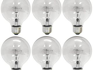 GE Crystal Clear Incandescent light Bulbs  G25 Globe light Bulbs  40 Watts  410 lumens  Medium Base  6 Pack  Vanity light Bulbs  Missing 1 Bulb
