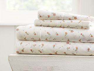linen Market 4 Piece Sheet Set Patterned  Queen  Soft Floral Pink