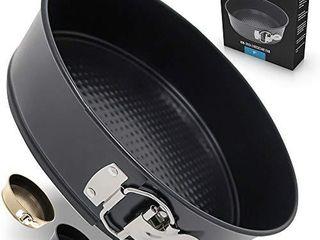 Zulay Premium 9 Inch Cheesecake Pan  Black