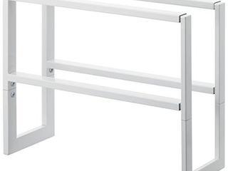 YAMAZAKI home 2 Shelves Adjustable Shoe Rack  large  One Size  White
