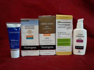 Neutrogena Moisturizer  lot of 5