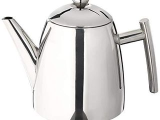 Frieling USA 18 10 Stainless Steel Teapot with Infuser  Tea Warmer with Teapot Infuser for loose Tea  34 Ounces
