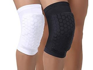PISIQI Compression Collision Avoidance Knee Sleeve  2 Sleeves  White  M