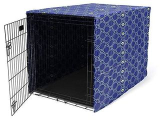 Morezi Dog Crate Cover for Wire Crates  Heavy Nylon Waterproof  Fits Most 36  inch Dog Crates  Easy to Put On  Take Off  and Adjust   Cover only   Black   large