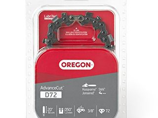 Oregon D72 AdvanceCut Chainsaw Chain for 20 Inch Bar  Fits Stihl 026  029  MS 290  MS 291  MS 391  Husqvarna 55 Rancher  455 Rancher  460 Rancher  372XP   More  72 Drive links
