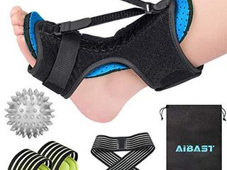2020 New Upgraded Blue Night Splint for Plantar Fascitis  AiBast Multi Adjustable Ankle Brace Foot Drop Orthotic Brace for Plantar Fasciitis  Arch Foot Pain  Achilles Tendonitis Support for Women  Men