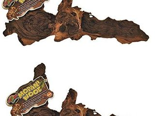 2 Pack  Zoo Med Reptile Mopani Wood for Aquariums  Size  Medium  2  H x 6  W x 22  l