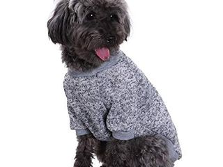 Fashion Focus On Pet Dog Clothes Knitwear Dog Sweater Soft Thickening Warm Pup Dogs Shirt Winter Puppy Sweater for Dogs  Small  Grey