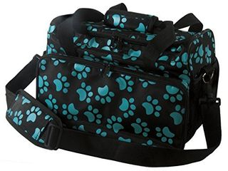Wahl Professional Animal Travel Tote Bag with Zipper  Turquoise Paw Print Design  97764 300  9 Inches Turquoise