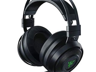 Razer Nari Wireless 7 1 Surround Sound Gaming Headset  THX Audio   Auto Adjust Headband   Swivel Cups   Chroma RGB   Retractable Mic   For PC  PS4  PS5   Black