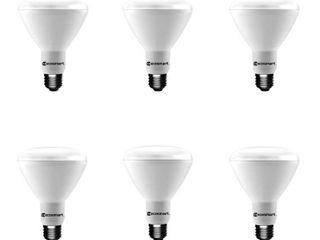 EcoSmart 65 Watt Equivalent BR30 Dimmable lED light Bulb Soft White  6 Pack