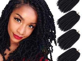 Bob Spring Twist Hair 8 Inch Ombre Color Twist Crochet Braids low Temperature Fiber 25 Strands pack