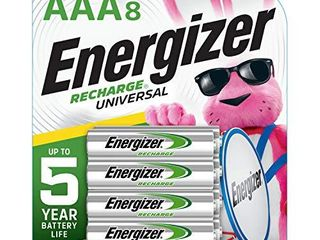 Energizer Rechargeable AAA Batteries  700 mAh NiMH  Pre charged  Chargeable for 1 000 Cycles  8 Count  Recharge Universal