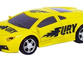 As Seen On TV RC Pocket Racers Remote Controlled Micro Race Cars Vehicle  Fury Yellow
