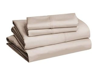 Amazon Basics Microfiber Sheet Set  Full  Taupe