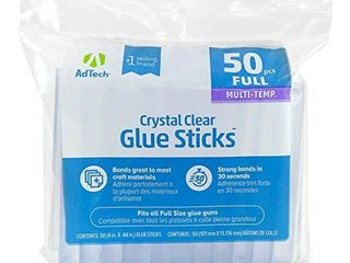 Adtech  220 14ZIP50  Full Size Hot purpose glue sticks for crafting  scrapbooking   more  4  50ct  Clear  50 Count