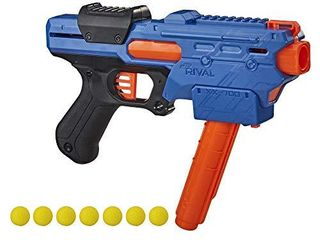 NERF Rival Finisher XX 700 Blaster   Quick load Magazine  Spring Action  Includes 7 Official Rival Rounds   Team Blue