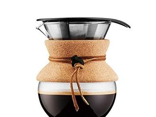 Bodum Pour Over Coffee Maker  17 Ounce   5 liter  Cork Band