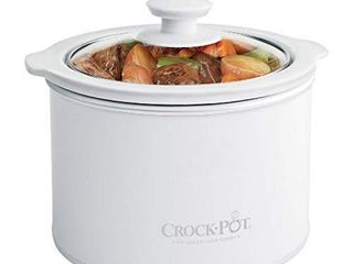 Crock Pot 1 to 1 2 Quart Round Manual Slow Cooker  White  SCR151 WG