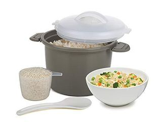 Progressive International Set Microwave Rice Cooker  4 Piece  Gray