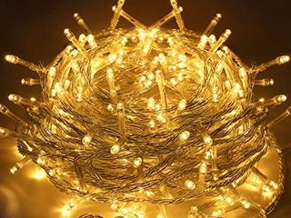 EMITEVER 115FT 300lED String lights Indoor Outdoor  Super Bright Christmas lights with 8 Modes  More Durable Decorative String lights for Xmas Tree Garden Patio Bedroom Wall Decor  Warm White