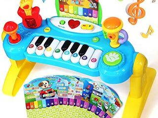 llG Piano Keyboard Toy for Kids   VANlINNY Toy Piano for Toddler Girls Electronic Piano Keyboard Toy Keyboard with Record and Playback 2 3 4 5 Year Educational Keyboard Musical Instrument Toys