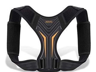 AEVO Compact Posture Corrector for Men and Women  Adjustable Upper Back Brace for Clavicle Support  Neck  Shoulder  and Back Pain Relief  Invisible Comfortable Back Straightener  l