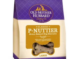 Old Mother Hubbard Classic Crunchy P Nuttier Biscuits large Oven Baked Dog Treats   3lb 5oz