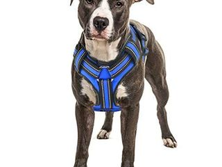 Bolux No Pull Dog Harness  Adjustable Pet Reflective Oxford Soft Vest Harness with leash Clips for Dogs  Pet No Choke Halters with Nylon Handle