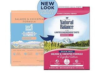 Natural Balance l I D  limited Ingredient Diets Dry Cat Food for Indoor Cats  Salmon   Chickpea Formula  10 Pounds  Grain Free