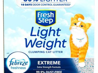 Fresh Step lightweight Extreme Scented litter with the Power of Febreze Clumping Cat litter  15 4lb