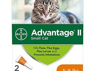 Advantage II 2 Dose Flea Treatment and Prevention for Small Cats  5 9 Pounds